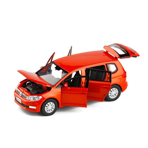 Image 1 - 1/32 Ratio Kids Toy Simulation VolkswageX Touran Toy Car Alloy Die casting Model Sound And Light Pull Back Toys Birthday Gift