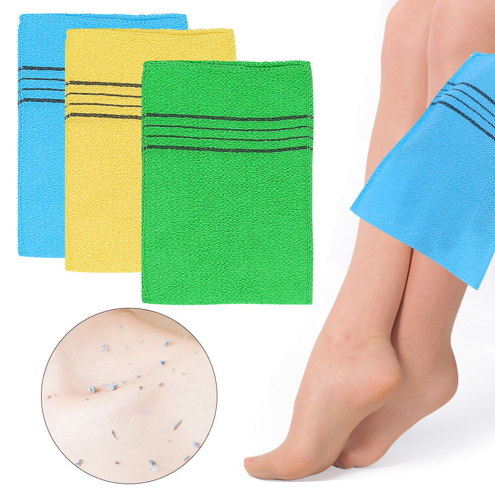 1/3/5/10pcs Double-sided Towel Korean Exfoliating Bath Washcloth Body Scrub Shower Cleaner Portable For Adult Coarse Grain Towel