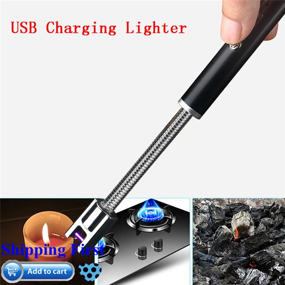 Электрическая перезаряжаемая USB кухонная зажигалка, ветрозащитная Электронная зажигалка для сигарет, плазменная импульсная дуговая Зажиг...