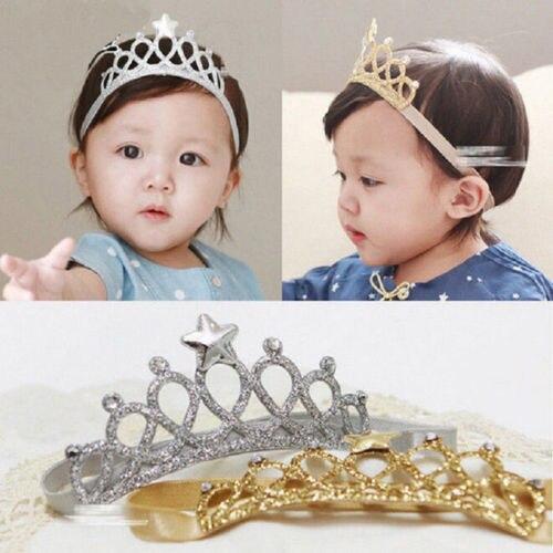 New Baby Crown Hair Band Girls Princess Boys King Noble Lovely Crown Hairband Child Cuteful Headband Kids Tiara Birthday Gift