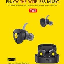 OVLENG T10 tws 5.0 bluetooth ヘッドフォン 3D ステレオワイヤレスイヤホンデュアルマイク iphone サムスン華為 Google のための電話
