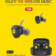 Ovleng T10 Tws 5.0 Bluetooth Hoofdtelefoon 3D Stereo Draadloze Oortelefoon Met Dual Microfoon Voor Iphone Samsung Huawei Google Telefoon