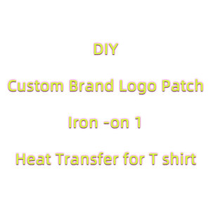 Brand Logo Patches Heat Transfer Sticker for T shirt DIY Brand logo Thermo Vinyl Iron on Letters Patches for Clothes Appliques H