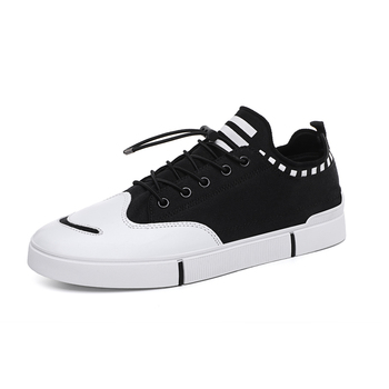 Men's Vulcanize Causal New Summer Sneakers Wedges Canvas Shoes Men Casual Shoe Men Breathable White Basket Stars Solid Lace-up