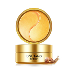 60 Pieces Gold Snail Collagen Eye Mask Dark Circle Anti-Wrinkle Fades Fine Lines Anti-Puffiness Anti-Aging Moisturizing Eye Care