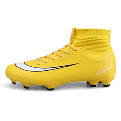 Soccer Mens High Top Training Ankle AG Sole Outdoor Cleats Football Shoes Spike High Ankle Men Football Boots Shoes