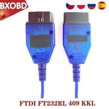 Kkl com 409.1 ftdi ft232rl vag com kkl 409 vag kkl cabo vag com cabo 409 VAG-COM vag ferramenta de diagnóstico vag scanner