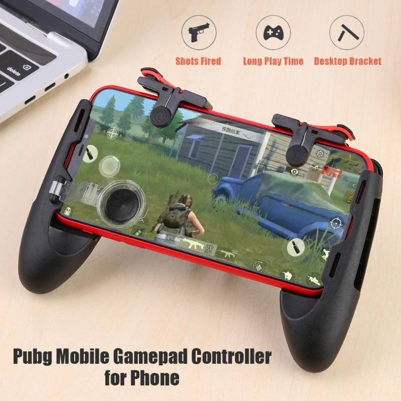 Hot 5 in 1 Mobile Phone Gamepad For PUBG Mobile Trigger Fire Button L1R1 Shooter Controller Joystick Aim Key For Shooting Game