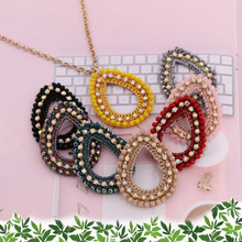 New For Women Short Necklace Crystal Pendant Necklace o-chain necklace New jewelry accessories fashion