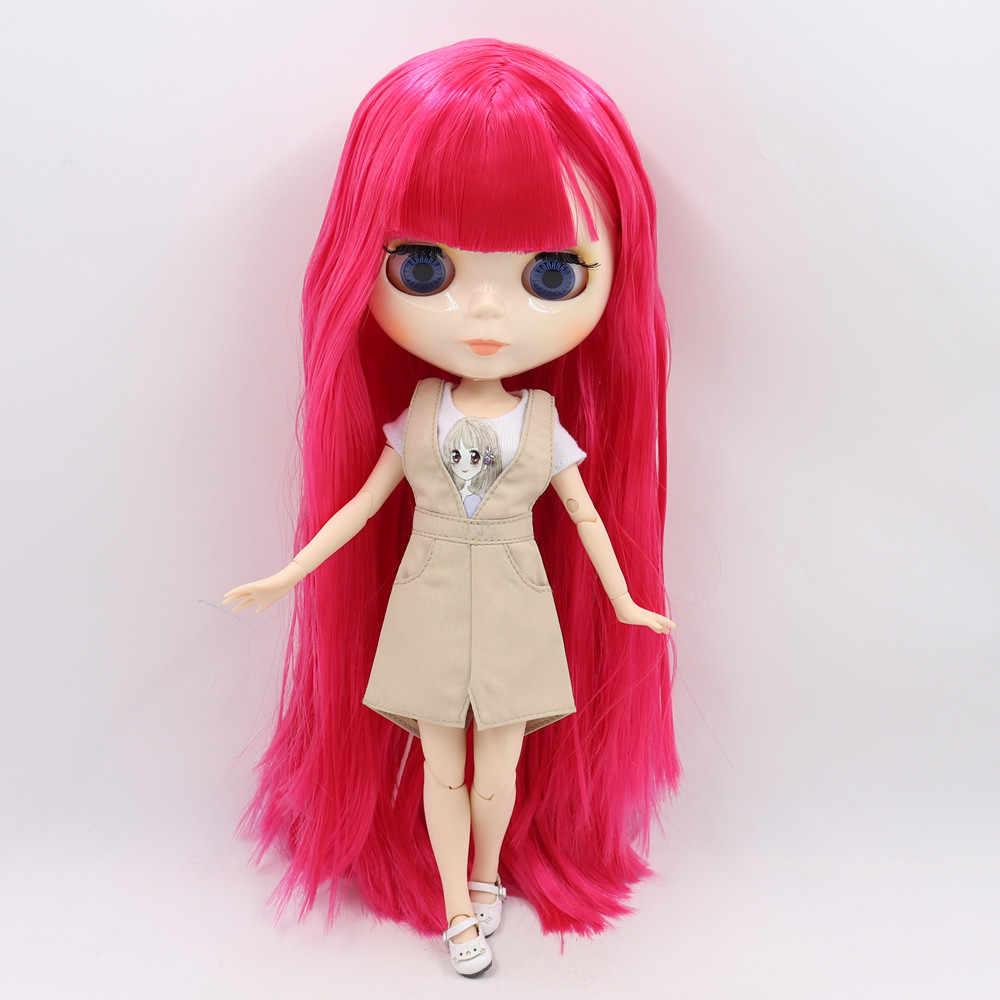 ICY factory muñeca Blyth cuerpo articulado desnudo personalizado 1/6 con piel blanca, cara brillante, regalo de chica, juguete