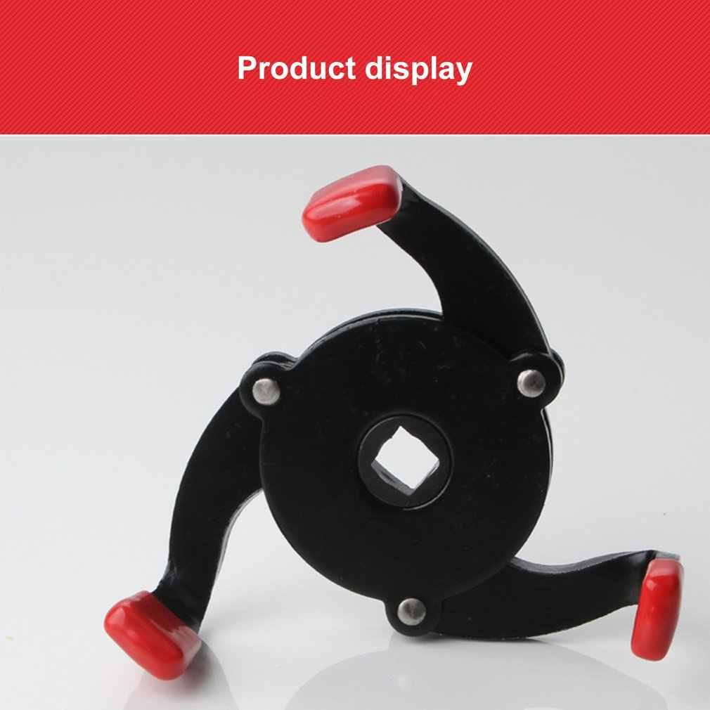 Llave de filtro unidireccional de tres mandíbulas, máquina de cambio, llave de filtro de rejilla de aceite, cabeza de bola de desmontaje de núcleo de aceite, ribete antideslizante