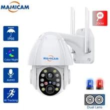 Ip-Camera Surveillance-Recorder Ptz 4xzoom Cctv-Security-System Dual-Lens Wifi Auto Tracking