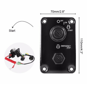 12V Outboard Single Engine Key Switch Panel Assembly for Yamaha Outboard Yacht 704-82570-12-00 704-82570-11-00 704-82570-08-00 new 37100 96j14 dual ignition key switch panel for suzuki df100a 115a marine outboard