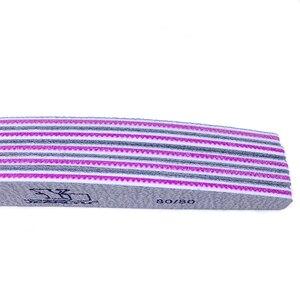 Image 4 - 50pcs/lot Nail File Sanding 80/80 Buffer Block Grey Boat UV Gel Nails Polisher Washable Thick Manicure Pedicure Tools Nail Care