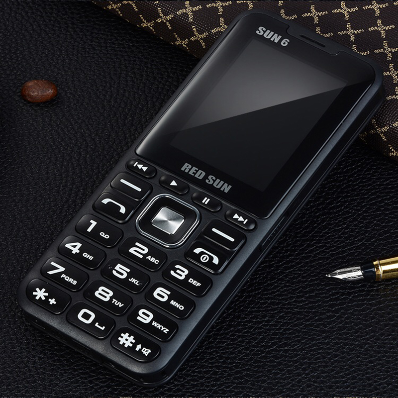 2.4 Display Quad 4 Music Mobile Phone Big Speaker Sound  Sim 4 Standby Magic Voice Changer Power Bank  Dual Flashlight Phone