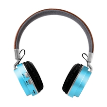Wireless Bluetooth Headset Hifi Stereo Esports Game Folding Sports Headphones Blue + Black Plastic