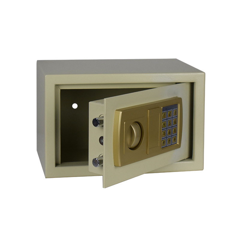 Small Household Safe Box Wholesale 20cm All-Steel Front Desk Cash Storage Safety Box Office Hotel Only Safe-Deposit Box