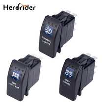 Herorider 5pin Car Boat Truck Lighted Toggle Switch 12v ON-OFF Waterproof Toggle Rocker Switch 12v Led Car Boat Switch стоимость