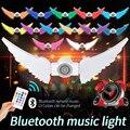 Новинка 2020, хит, 130LED, 50 Вт, RGB + W, беспроводной, умный, Bluetooth, музыкальный плеер, складная, Крыло ангела, лампа, дропшиппинг, продажа аксессуаров
