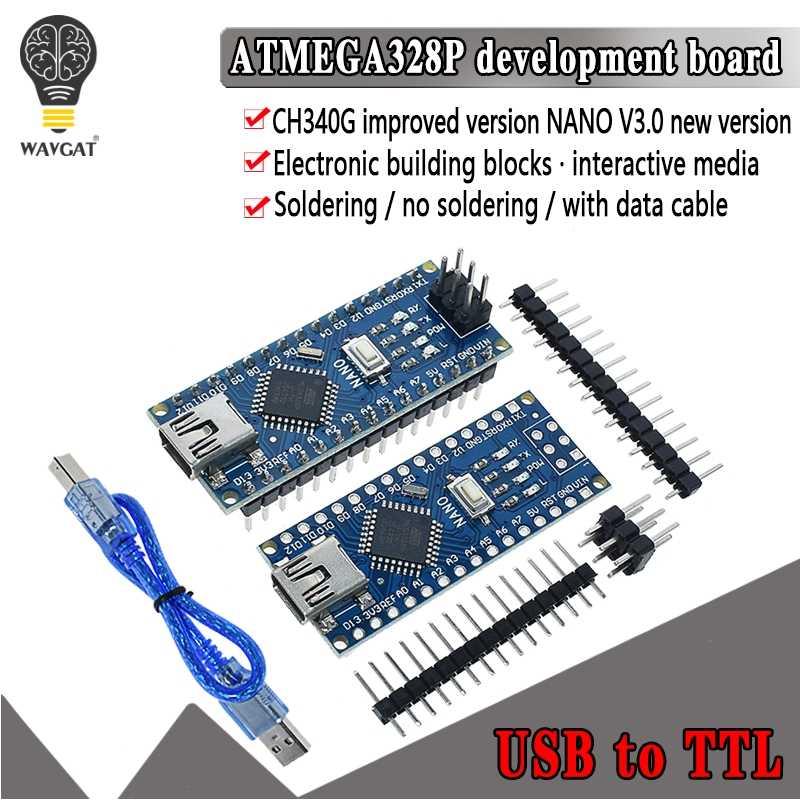 1 pièces Promotion pour arduino Nano 3.0 Atmega328 contrôleur Compatible carte WAVGAT Module carte de développement sans USB V3.0