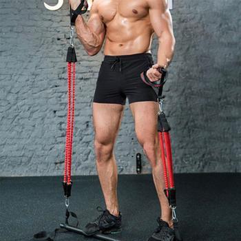 Fitness Rod Resistance Band Assemble Resistance Bar with Adjust Belt Portable Home Gym Pilates Bar System Full Body Workout Equi