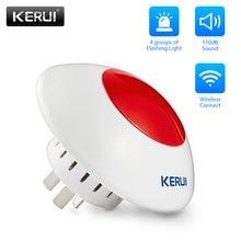 KERUI 433 МГц высокое качество Беспроводная вспышка рог красный светильник громкая сирена для дома и бизнеса охранная сигнализация комплект