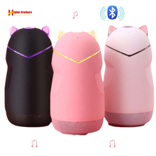 Taşınabilir Mini kablosuz Bluetooth hoparlör Bluetooth 4.2 32G kedi şekli hoparlörler destek Handfree TF müzik kartı ile led ışık