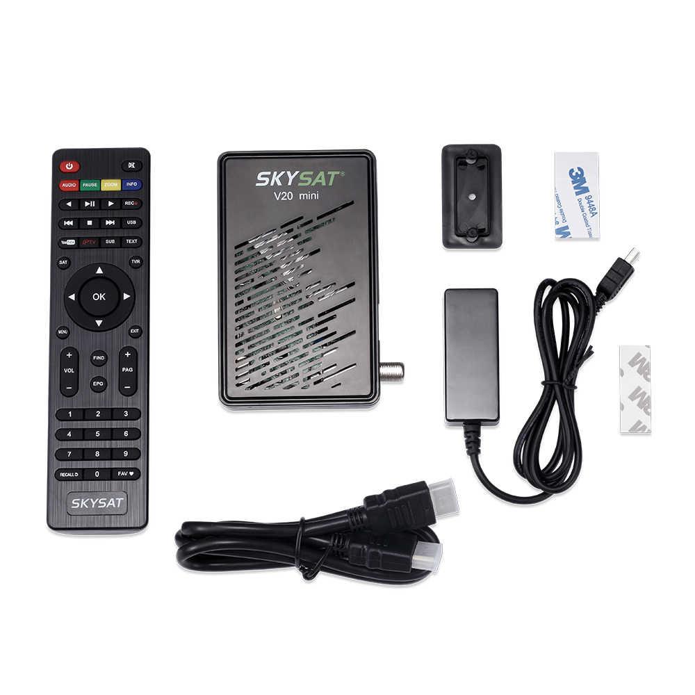Récepteur Satellite SKYSAT V20 Mini DVB S2 TV Box Cline CCCams Newcamd Powervu Youtube récepteur IPTV récepteur de télévision par Satellite HD