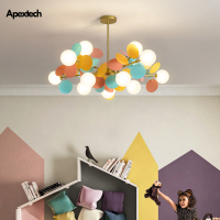 Children's Room Chandelier Multicolored Flower Branch Series Living Dining Room Ceiling Hanging Lights Bedroom Lighting Fixtures