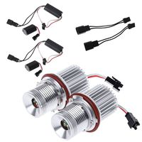 2x Error Free 40W LED Angel Eyes Halo Ring Lights Marker Bulb For bmw E39 E60