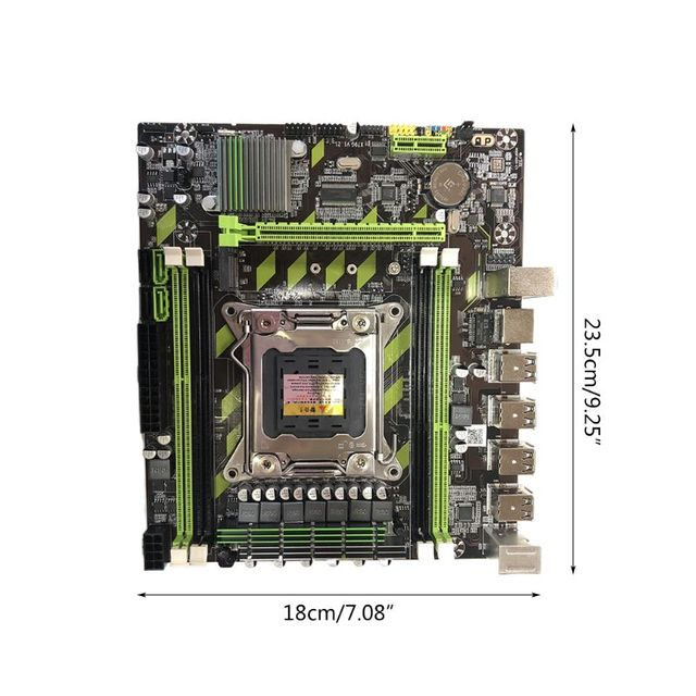 X79G Motherboard LGA 2011 DDR3 Mainboard with M.2 Interface E5 2620 CPU 2x4G Memory Card for In-tel Xeon E5 Core I7 CPUs 5