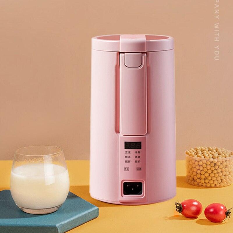 220V Electric Soymilk Machine Multicooker Mini Heatable Soya-Bean Milk Juicer Blender Rice Paste Maker Filter-free With Steamer