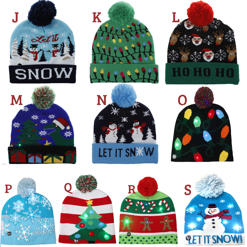 Christmas Light-Up LED Winter Hats