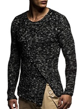ZOGAA Autumn Winter Men Sweater Fashion O-Neck Patchwork Cotton Pullover Slim Fit Long Sleeve Knitted Mens Sweaters