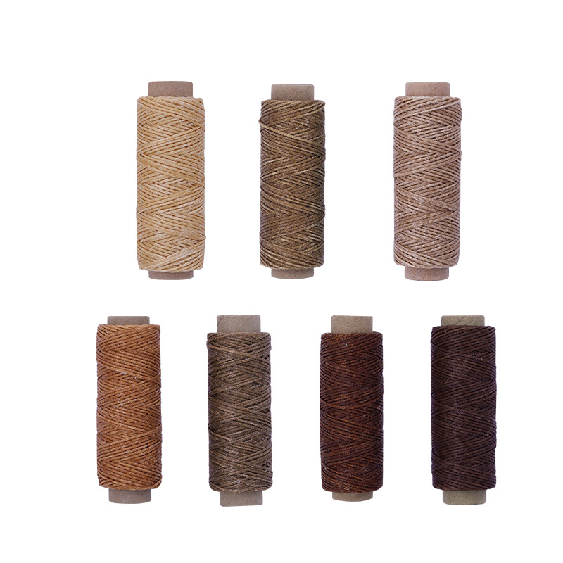 MIUSIE Leather Waxed Thread Cord 150D 50M DIY Hand Polyester Stitching Thread Multicolor For DIY Handicraft Sewing Tools