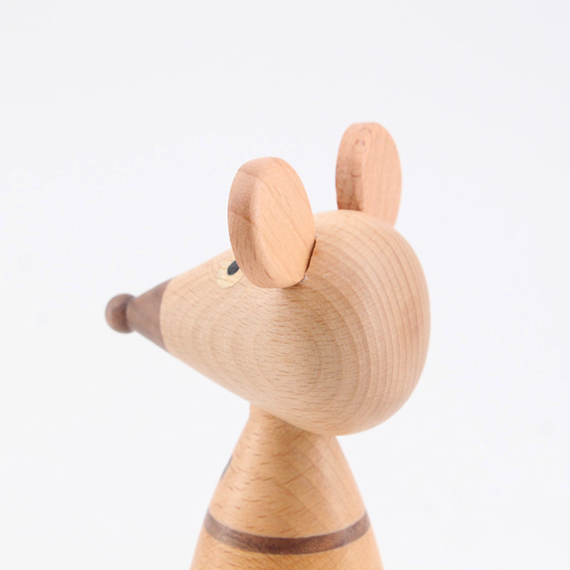 Wooden ornaments couple mouse creative home decoration porch puppet coffee shop decorative arts and crafts gift 5