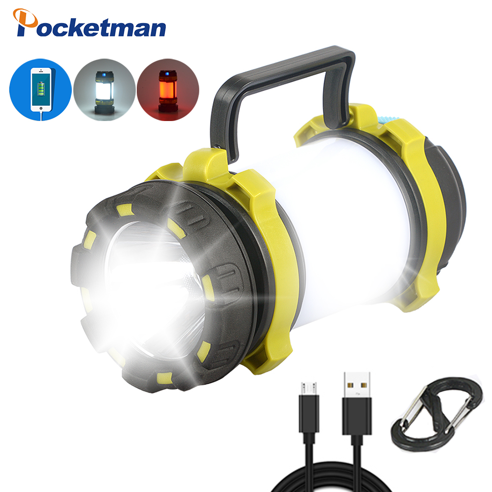 50000LM LED Camping Light USB Rechargeable Flashlight Dimmable Spotlight Work Light Waterproof Searchlight Emergency Torch