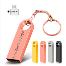 Pen Drive Waterproof Metal Type-C Usb Flash Drive USB 2.0 Flash Disk Cle Usb Stick 4/8/16/32G 64G Pendrive Flash Memory Card
