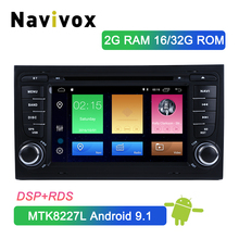 Navivox 2 Din Android 9.1 Car Multimedia Player Head Unit For Audi A4 B6 B7 S4 B7 B6 RS4 B7 SEAT Exeo Car DVD Player Radio DSP 7double 2 din head unit android 8 1 universal car radio stereo multimedia no dvd music player built in dsp carplay android auto