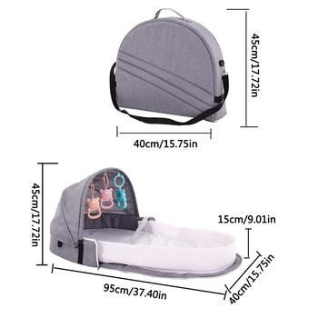 Portable Bionic Baby Crib Baby Safety Isolation Bed Multi-function BB Outdoor Folding Bed Travel Cradle Foldable Crib 1