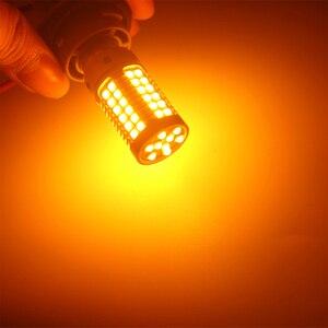 Image 5 - 2PCS CANBUS Car led p21w py21w 1156 BA15S BAU15S W21W T20 7440 S25 Bulbs 3030 69SMD No error Turn Signal Lights Amber DC12V