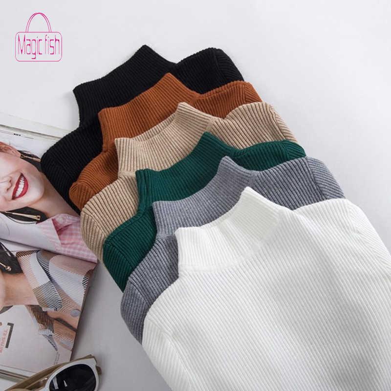 Волшебная рыба, новинка, осенняя водолазка, пуловеры, свитер для женщин, облегающая, плотная, зимняя одежда для женщин, Sueter Mujer Invierno 2019