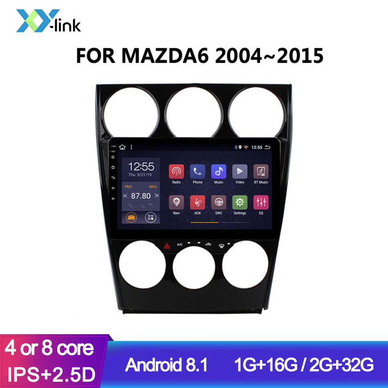 9 inch Android 8.1 Car Radio <font><b>GPS</b></font> Glonass Navigation system for <font><b>MAZDA</b></font> <font><b>6</b></font> 2004-2015 Audio multimedia player accessories no 2 din image
