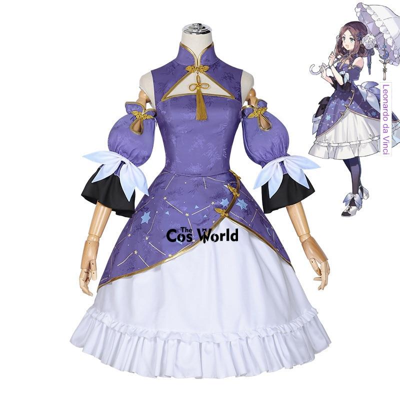 Fgo Fate Grand Order Fes Expo Shanghai Leonardo Da Vinci Chinese Cheongsam Dress Anime Cosplay Costumes Game Costumes Aliexpress