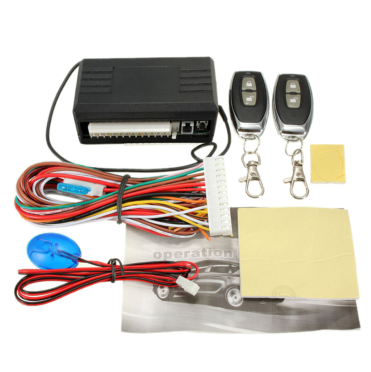 Universal Car Remote Control Central Door Lock Locking Keyless Entry System Kit Main Unit And Remote Controllers