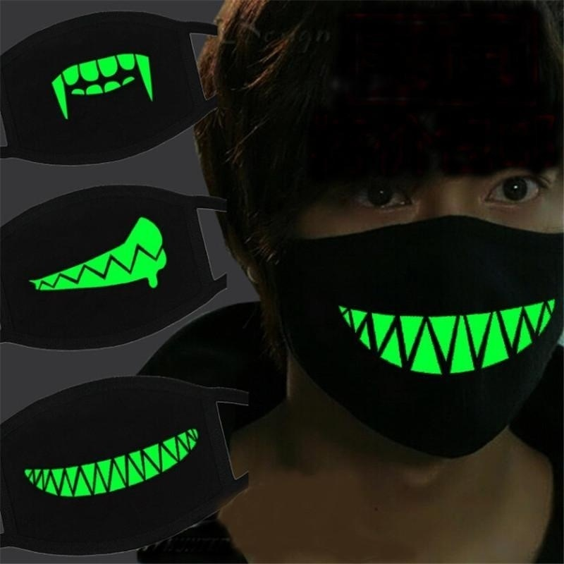 1pc Luminous Cotton Mask Anti-Dust Mouth Mask Cycling Anti-Dust Cotton Mouth Mask Halloween Party Cosplay #10