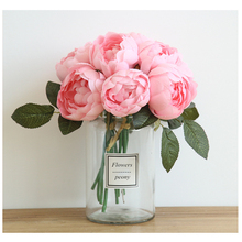 1/2/5Pcs 8 Color Peony Plantas Artificiales Para Decoracion Artificial Flowers Indoor Decor For Home Fake flowers 1Pcs/6Head D40