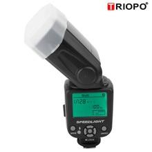 TRIOPO TR 950 profesyonel flaş ışığı kamera harici Speedlite Speedlight Nikon için Canon için flaş kamera DSLR Speedlite