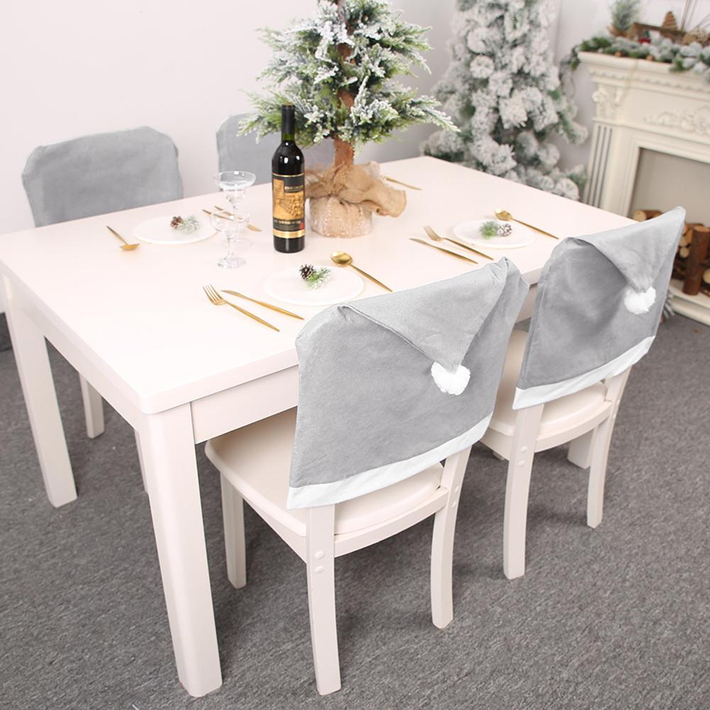 Stretch Fox Pile Fabric Dining Room Wedding Christmas Home Chair Seat Cover Xmas