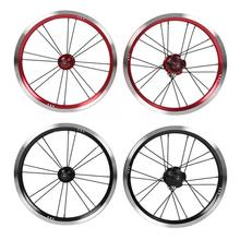 9 zębów 14 cal koło rowerowe zestaw stopu Aluminium V hamulca rowerów koła rowerowe przednie i tylne zestaw do kół części rowerowe do rower składany
